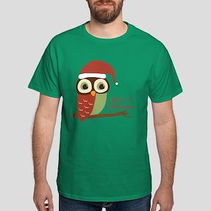 Baby's 1st Christmas Santa Owl Dark T-Shirt