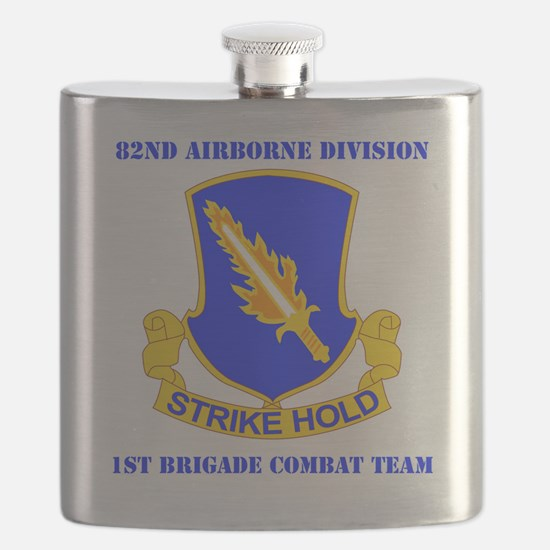 DUI-82ND AIRBORNE DIV 1 BCT WITH TEXT Flask