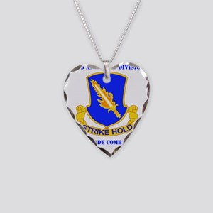 DUI-82ND AIRBORNE DIV 1 BCT W Necklace Heart Charm