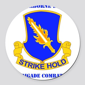 DUI-82ND AIRBORNE DIV 1 BCT WITH  Round Car Magnet