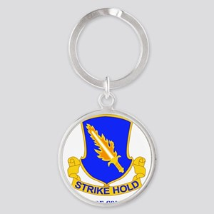 DUI-82ND AIRBORNE DIV 1 BCT WITH TE Round Keychain