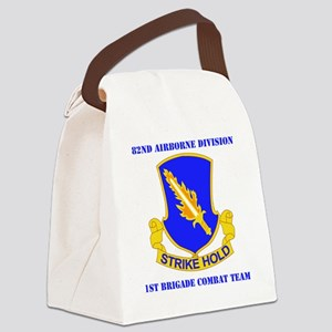 DUI-82ND AIRBORNE DIV 1 BCT WITH  Canvas Lunch Bag