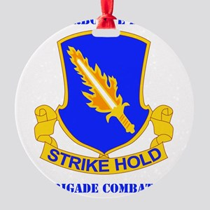 DUI-82ND AIRBORNE DIV 1 BCT WITH TE Round Ornament