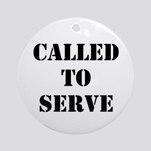 Called To Serve Ornament (Round)