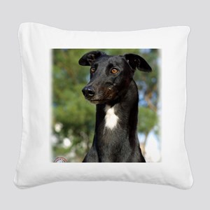 Greyhound 9R022-146 Square Canvas Pillow