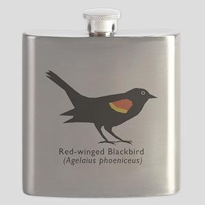 red-winged blackbird Flask