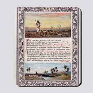 Lords Prayer Psalm 23 1880 Mousepad
