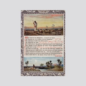 Lords Prayer Psalm 23 1880 Rectangle Magnet