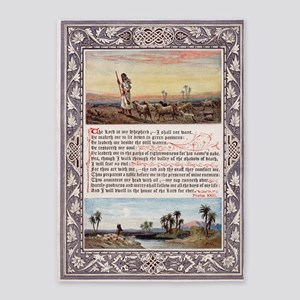 Lords Prayer Psalm 23 1880 5'x7'Area Rug