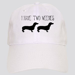I Have Two Weenies Cap