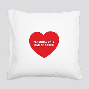 personalized_LOVENAMESwhite Square Canvas Pillow