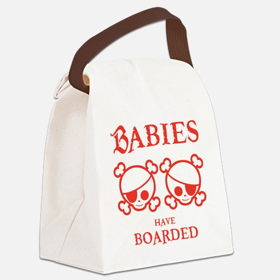 twins-boarded-T Canvas Lunch Bag