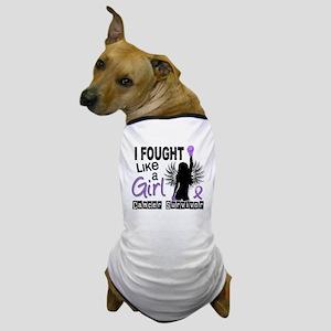 I Fought Like A Girl 26S Hodgkins Lymp Dog T-Shirt
