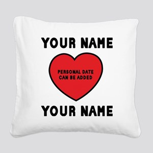 personalized_LOVENAMES Square Canvas Pillow