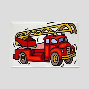 firetruck Rectangle Magnet