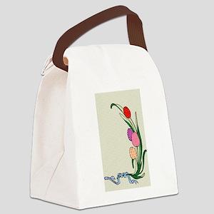 TulipsPotholder Canvas Lunch Bag