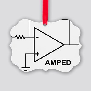 op amp 4 Picture Ornament