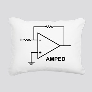 op amp 4 Rectangular Canvas Pillow