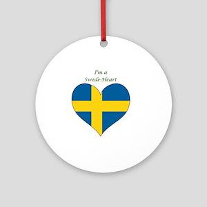 SwedeHeart-sq Round Ornament