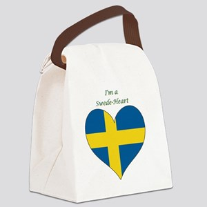 SwedeHeart-sq Canvas Lunch Bag
