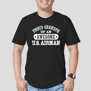 Proud Grandpa of an Awesome US Airman Men's Fitted