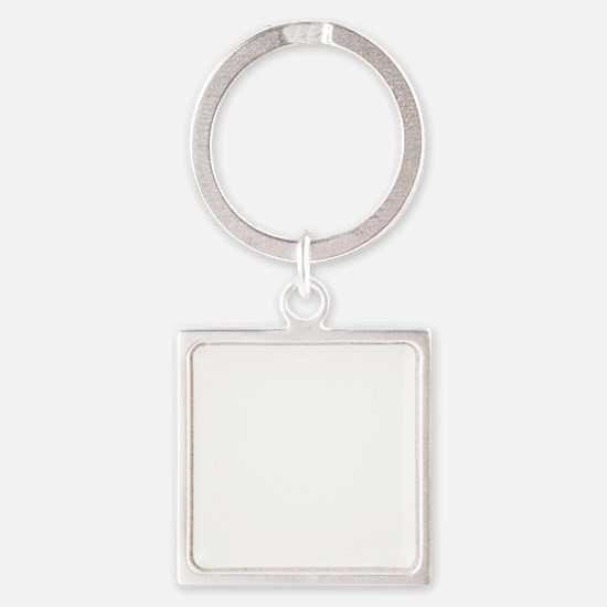 Running People White Square Keychain