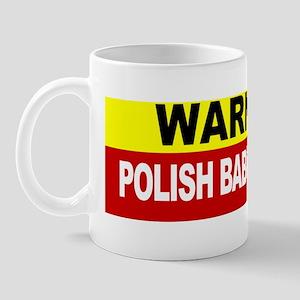 Warning Polish Babcia Bumper Sticker Mug