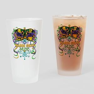 MGmaskMuseFaTR Drinking Glass