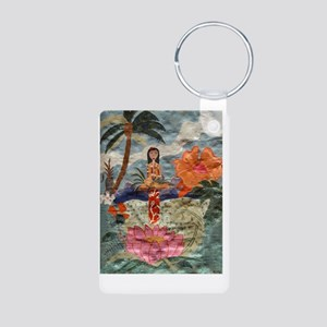 HawaiiPoster Aluminum Photo Keychain