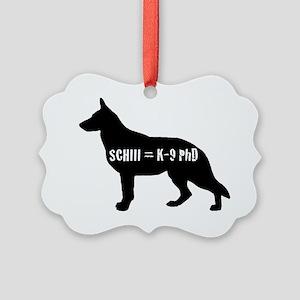 Schutzhund 3 Phd Picture Ornament
