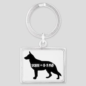 Schutzhund 3 Phd Landscape Keychain