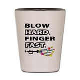 Trumpet blow me Shot Glass