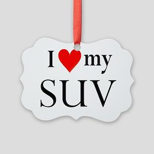 I heart my SUV Picture Ornament