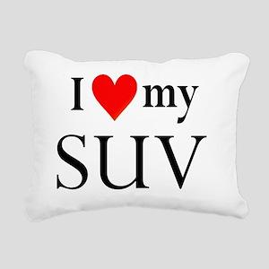 I heart my SUV Rectangular Canvas Pillow