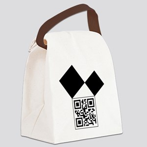 QRcodeEuclidFreemason Canvas Lunch Bag