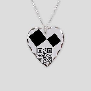 QRcodeEuclidFreemason Necklace Heart Charm