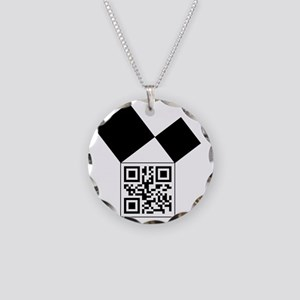 QRcodeEuclidFreemason Necklace Circle Charm