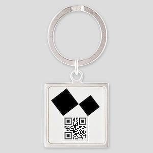 QRcodeEuclidFreemason Square Keychain