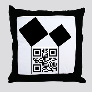 QRcodeEuclidFreemason Throw Pillow