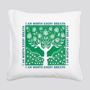 Smoking Tree Square Canvas Pillow