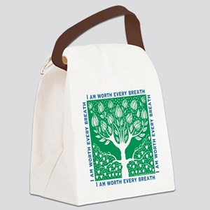 Smoking Tree Canvas Lunch Bag