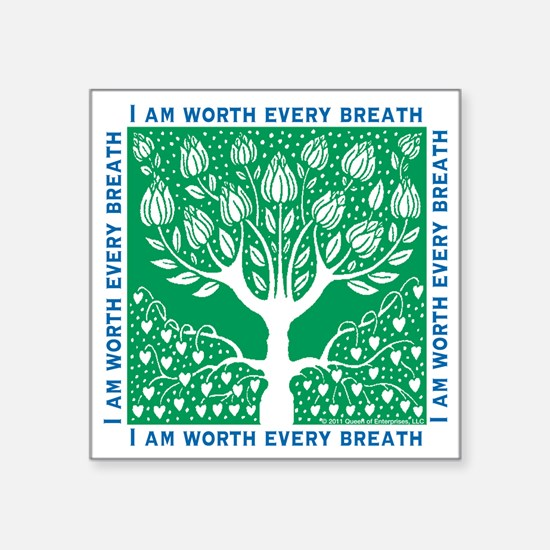 """Smoking Tree Square Sticker 3"""" x 3"""""""