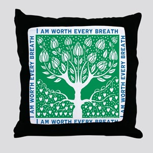Smoking Tree Throw Pillow