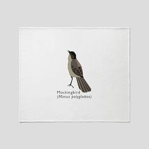 mockingbird Throw Blanket