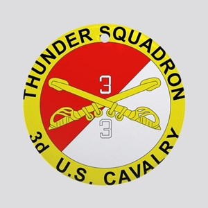 3-3D ARMORED CAVALRY REGIMENT Round Ornament