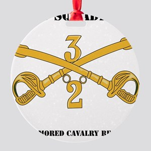 DUI-2-3RD ARMORED CAVALRY REGIMENT  Round Ornament