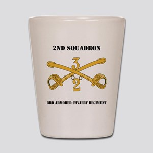 DUI-2-3RD ARMORED CAVALRY REGIMENT WITH Shot Glass