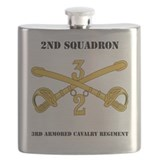 2nd stryker cavalry regiment Flask Bottles