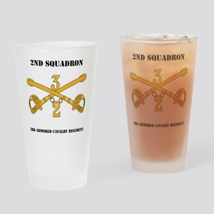 DUI-2-3RD ARMORED CAVALRY REGIMENT  Drinking Glass