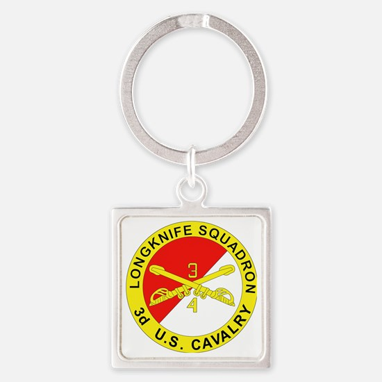 4-3D ARMORED CAVALRY REGIMENT Square Keychain